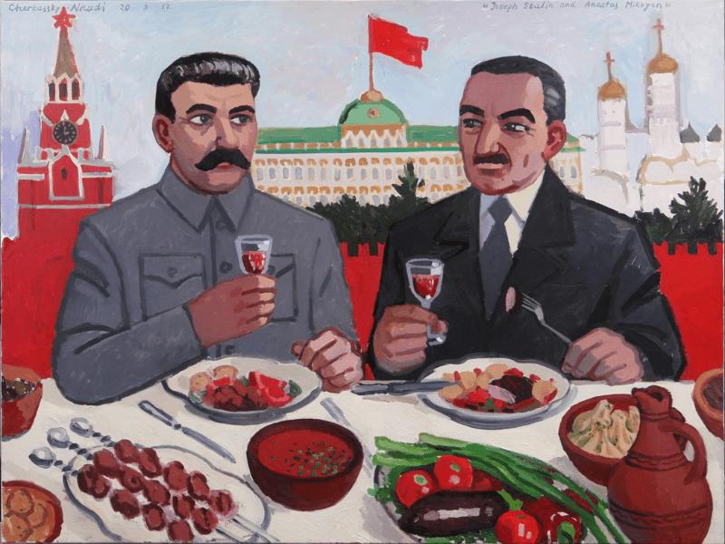 """""""Сталин и Микоян"""" Автор картины Зоя Черкасская"""