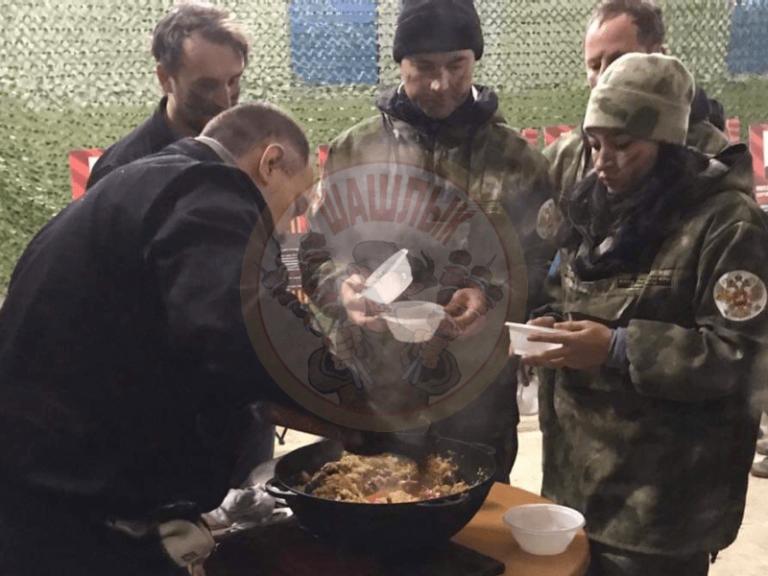 Приготовление блюд на пейнтбольных полях