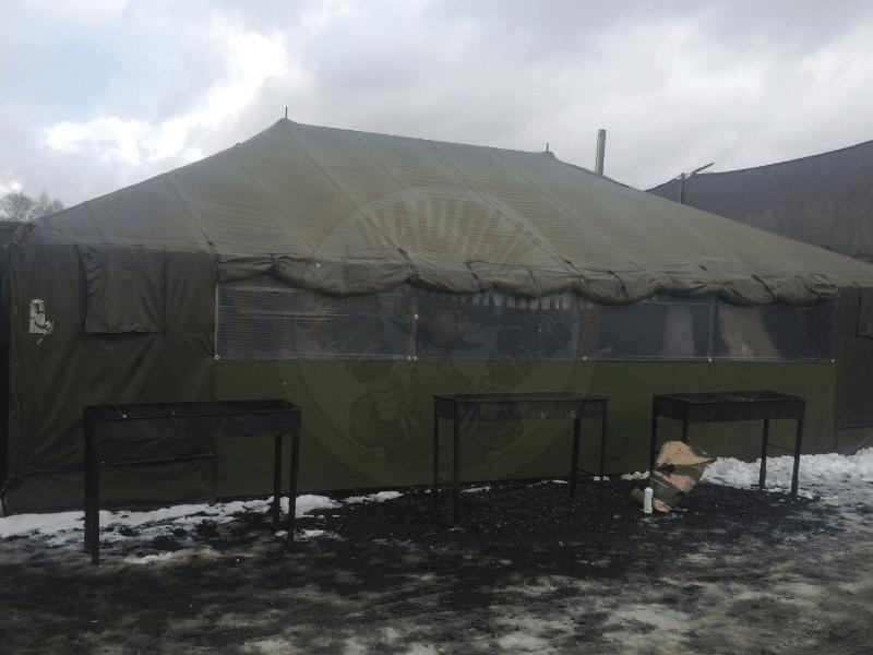 Беседки палатки в пейнтбольных клубах Москвы и МО