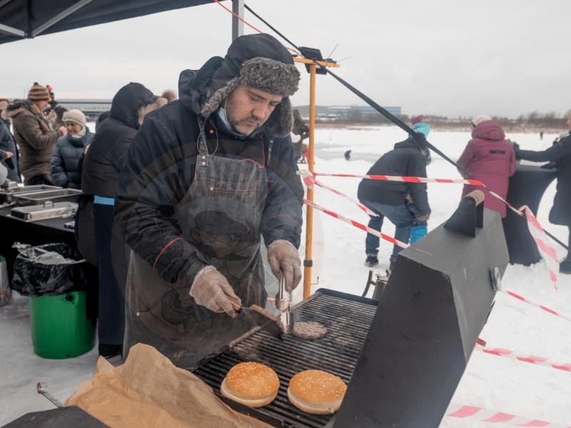 Зимнее выездное барбекю