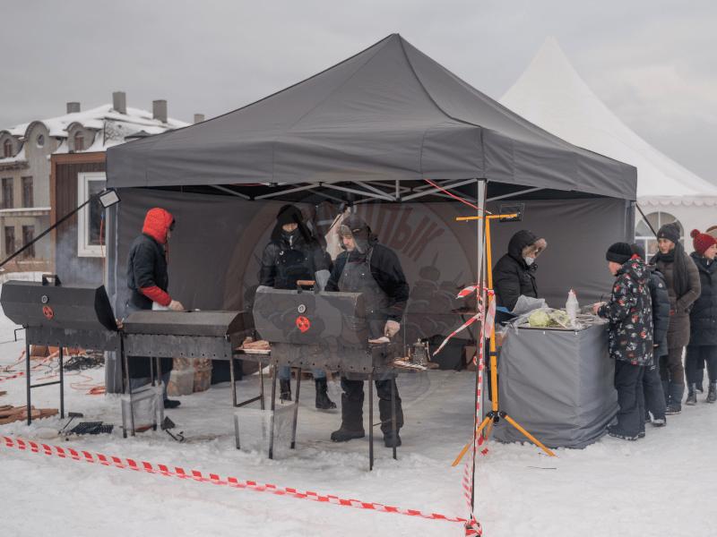 Организация зимнего барбекю