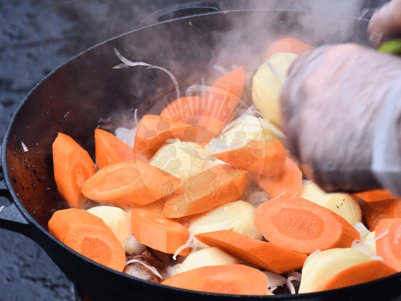 Осенние блюда в казане